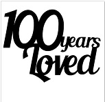 100 YEARS LOVED Pack of 5 50 x 50 mm Min 1 pack also available i